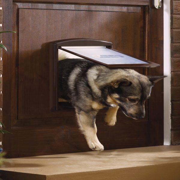 Дверца для кошек и собак средняя